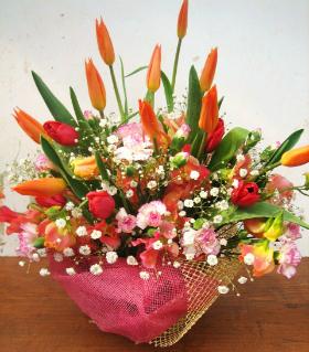 春のアレンジ例NO.2写真